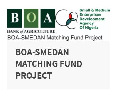Screenshot of BOA-SMEDAN Matching Fund